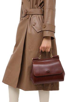 Женская сумка sicily DOLCE & GABBANA коричневого цвета, арт. BB6002/AW554 | Фото 2
