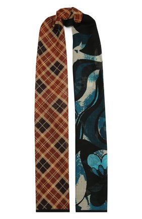 Женский шерстяной шарф DRIES VAN NOTEN разноцветного цвета, арт. 202-11308-202 | Фото 1