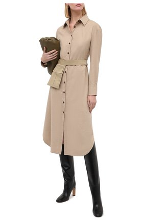 Женское платье из вискозы и шерсти ERIKA CAVALLINI бежевого цвета, арт. W0/P/P0WF07 | Фото 2