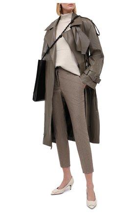 Женские брюки ERIKA CAVALLINI бежевого цвета, арт. W0/P/P0WG12 | Фото 2