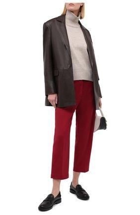 Женские брюки ERIKA CAVALLINI бордового цвета, арт. W0/P/P0WH17 | Фото 2