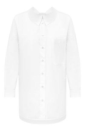 Женская хлопковая рубашка ERIKA CAVALLINI белого цвета, арт. W0/P/P0WJ07 | Фото 1