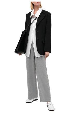 Женская хлопковая рубашка ERIKA CAVALLINI белого цвета, арт. W0/P/P0WJ07 | Фото 2