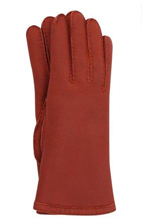 Женские кожаные перчатки LORO PIANA красного цвета, арт. FAL3318 | Фото 1 (Материал: Кожа)