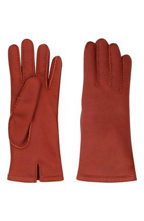 Женские кожаные перчатки LORO PIANA красного цвета, арт. FAL3318 | Фото 2 (Материал: Кожа)