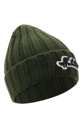 Женская шерстяная шапка OFF-WHITE хаки цвета, арт. 0WLA008E20KNI0015610 | Фото 1 (Материал: Шерсть)