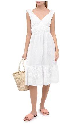 Женское хлопковое платье EVA B.BITZER белого цвета, арт. 10311498 | Фото 2