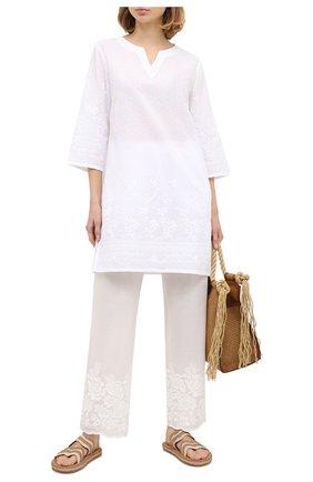 Женские хлопковые брюки EVA B.BITZER светло-бежевого цвета, арт. 10312268 | Фото 2