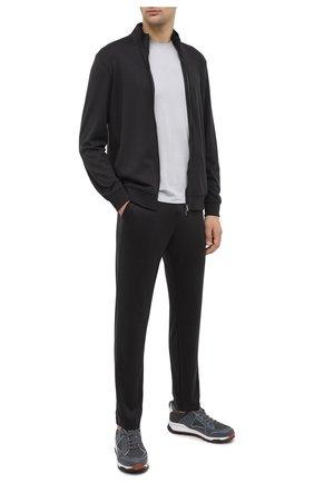 Мужские шерстяные брюки LORO PIANA темно-серого цвета, арт. FAI3034 | Фото 2 (Длина (брюки, джинсы): Стандартные; Материал внешний: Шерсть; Случай: Повседневный; Стили: Кэжуэл)