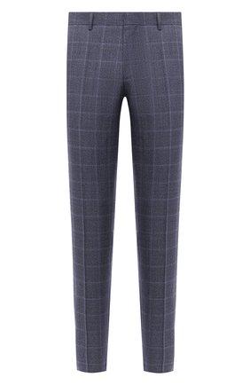 Мужской шерстяные брюки BOSS темно-синего цвета, арт. 50438341   Фото 1