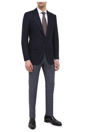 Мужской шерстяные брюки BOSS темно-синего цвета, арт. 50438341   Фото 2