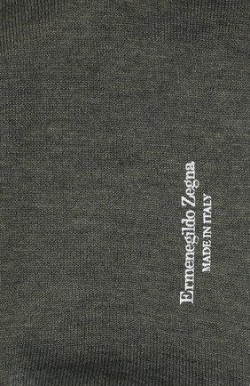Мужские хлопковые носки ERMENEGILDO ZEGNA серого цвета, арт. N5V403260 | Фото 2