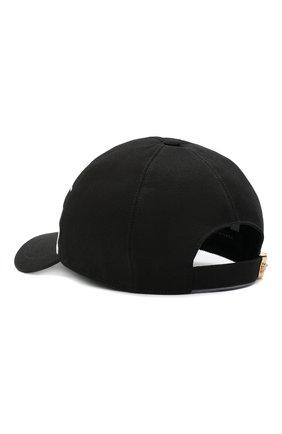 Мужской хлопковая бейсболка VERSACE черного цвета, арт. ICAP004/A236199 | Фото 2
