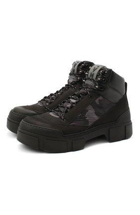 Мужские комбинированные ботинки VIC MATIE черного цвета, арт. 1Y5556U.V06TYVT002 | Фото 1