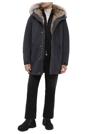 Мужские комбинированные ботинки VIC MATIE черного цвета, арт. 1Y5556U.V06TYVT002 | Фото 2