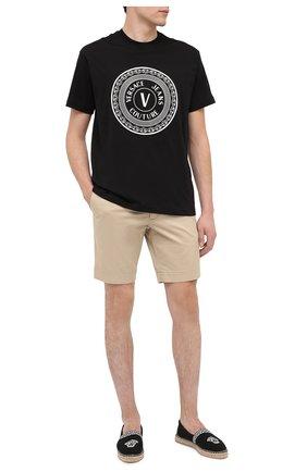 Мужская хлопковая футболка VERSACE JEANS COUTURE черного цвета, арт. B3GZA7TJ-ZUP601 REG 48/30319   Фото 2