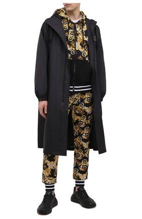 Мужская хлопковая толстовка VERSACE JEANS COUTURE черного цвета, арт. B7GZA701-Z U P 301C0 PRINT ALL0VER/S0830   Фото 2