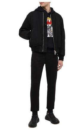Мужской хлопковое худи VERSACE JEANS COUTURE черного цвета, арт. B7GZA7KI-Z U P 304 BE LT PAIS LE Y/30328   Фото 2
