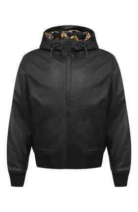 Мужской кожаный бомбер VERSACE JEANS COUTURE черного цвета, арт. ECGZA9P7-Z UPP00/25017   Фото 1