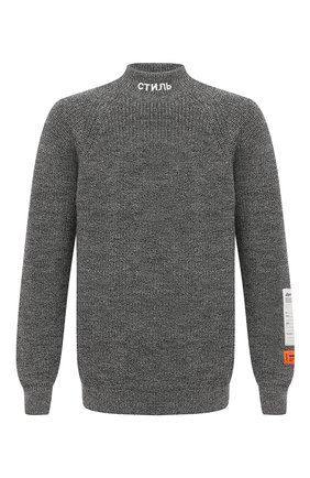 Мужской шерстяной свитер HERON PRESTON темно-серого цвета, арт. HMHF001F20KNI0010900 | Фото 1