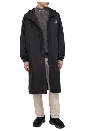 Мужской шерстяной свитер HERON PRESTON темно-серого цвета, арт. HMHF001F20KNI0010900 | Фото 2