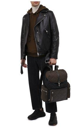 Мужской комбинированный рюкзак ERMENEGILDO ZEGNA темно-зеленого цвета, арт. C1282X-LHTMS | Фото 2