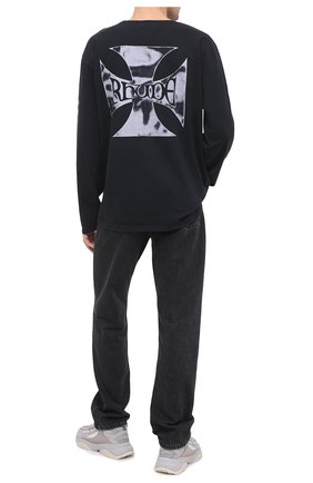 Мужская хлопковый лонгслив RHUDE черно-белого цвета, арт. RHU08PF20017 | Фото 2