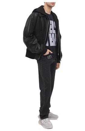 Мужская хлопковая футболка RHUDE черного цвета, арт. RHU08PF20012 | Фото 2
