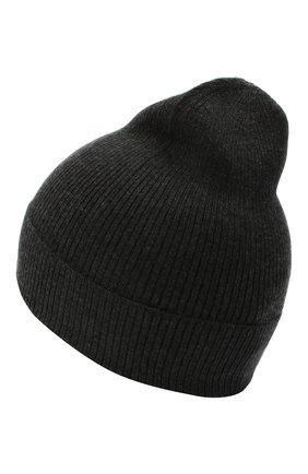 Мужская шапка из кашемира и шелка DOLCE & GABBANA темно-серого цвета, арт. GXC70T/JAM9D | Фото 2
