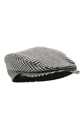 Мужская шерстяное кепи DOLCE & GABBANA черно-белого цвета, арт. GH587A/FMRA2   Фото 1