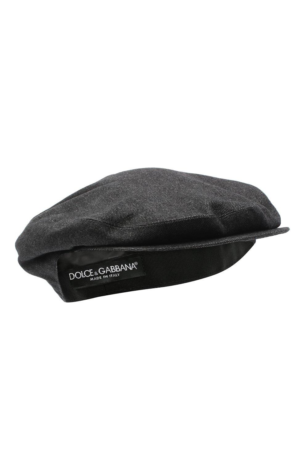 Мужская хлопковое кепи DOLCE & GABBANA серого цвета, арт. GH587A/FC6A0 | Фото 1