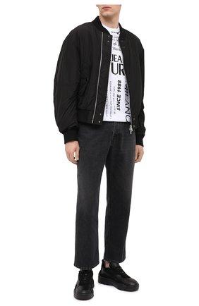 Мужские кожаные кроссовки valentino garavani gumboy VALENTINO черного цвета, арт. UY0S0B17/QSM | Фото 2