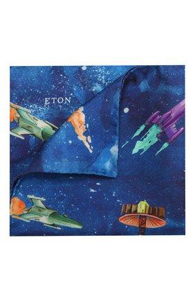 Мужской шелковый платок ETON синего цвета, арт. A000 32572 | Фото 1