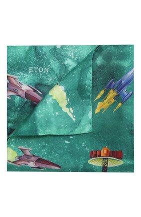 Мужской шелковый платок ETON зеленого цвета, арт. A000 32572 | Фото 1