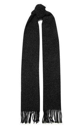 Мужской шарф из шерсти и шелка ETON черного цвета, арт. A000 32680 | Фото 1