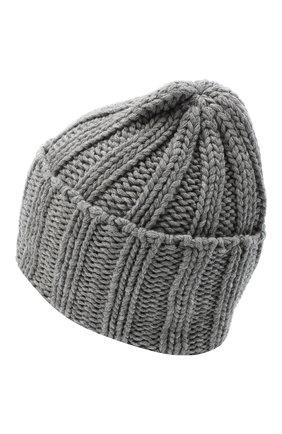 Мужская кашемировая шапка INVERNI серого цвета, арт. 2924CM | Фото 2