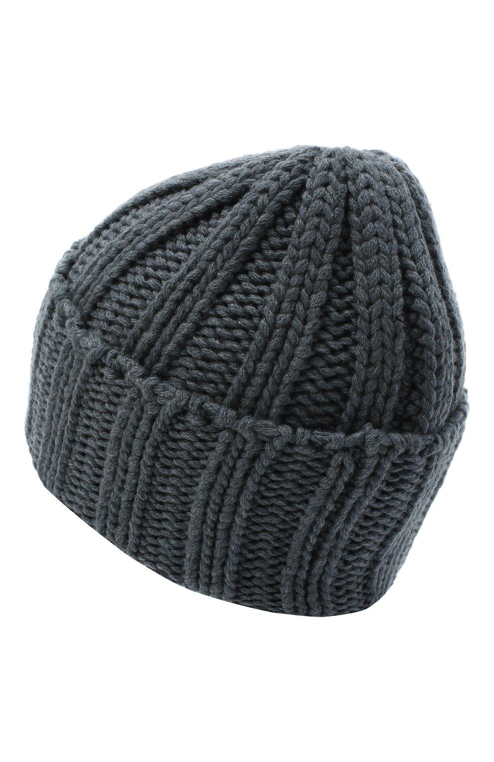 Мужская кашемировая шапка INVERNI синего цвета, арт. 2924CM | Фото 2
