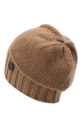 Мужская кашемировая шапка INVERNI коричневого цвета, арт. 4226CM | Фото 2