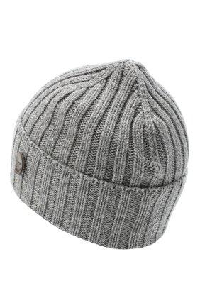 Мужская кашемировая шапка INVERNI серого цвета, арт. 4712CM | Фото 2