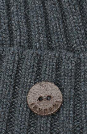 Мужская кашемировая шапка INVERNI синего цвета, арт. 4712CM | Фото 3