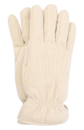 Мужские кашемировые перчатки LORO PIANA кремвого цвета, арт. FAL3287 | Фото 1