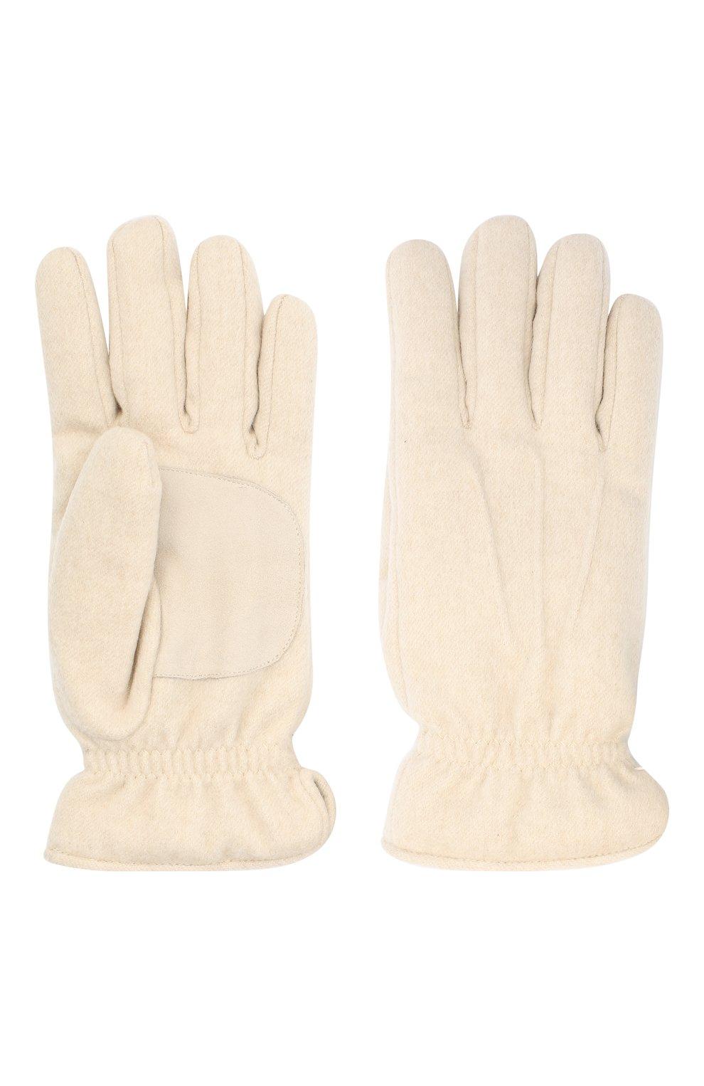 Мужские кашемировые перчатки LORO PIANA кремвого цвета, арт. FAL3287   Фото 2