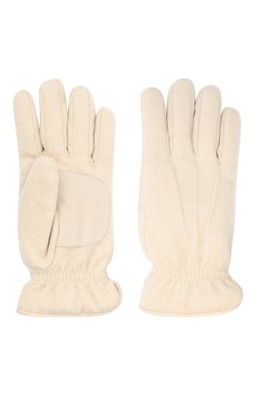 Мужские кашемировые перчатки LORO PIANA кремвого цвета, арт. FAL3287 | Фото 2