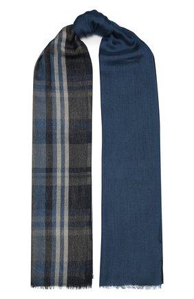 Мужской шарф из кашемира и шелка LORO PIANA синего цвета, арт. FAL4239 | Фото 1