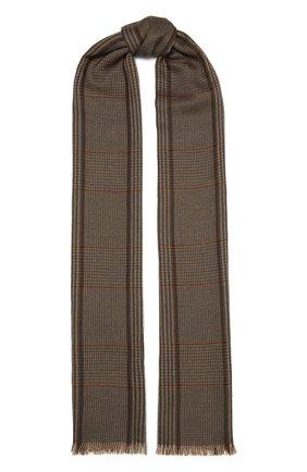 Мужской шарф из кашемира и шелка LORO PIANA темно-коричневого цвета, арт. FAL4592 | Фото 1
