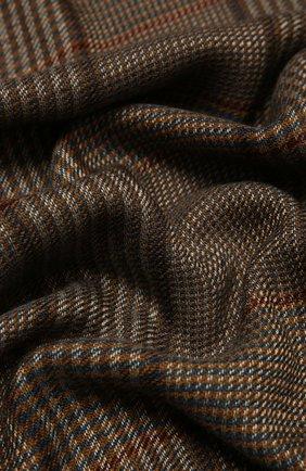 Мужской шарф из кашемира и шелка LORO PIANA темно-коричневого цвета, арт. FAL4592 | Фото 2