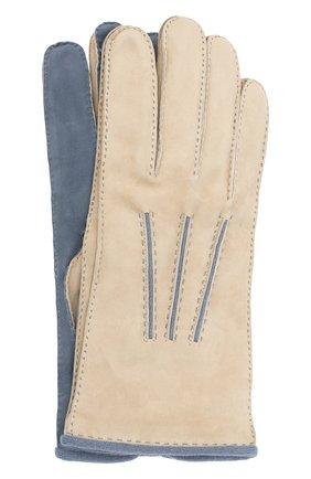 Мужские замшевые перчатки LORO PIANA белого цвета, арт. FAL4614 | Фото 1