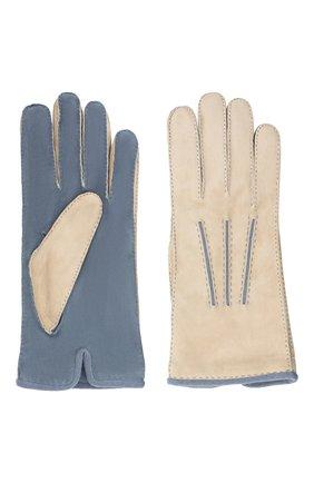 Мужские замшевые перчатки LORO PIANA белого цвета, арт. FAL4614 | Фото 2