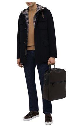 Мужской рюкзак stepan SERAPIAN темно-коричневого цвета, арт. SSTEPMLL7006M31D | Фото 2