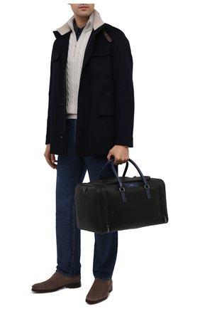 Мужская дорожная сумка stepan SERAPIAN черного цвета, арт. SSTEPMTR7130M45A | Фото 2